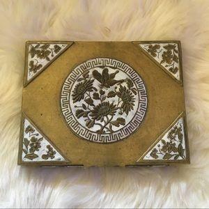 Metal floral ornate box